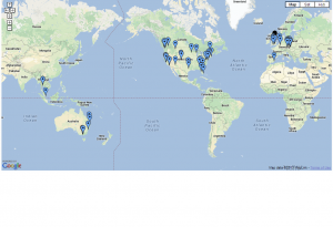 Track My Work Force - Global Map